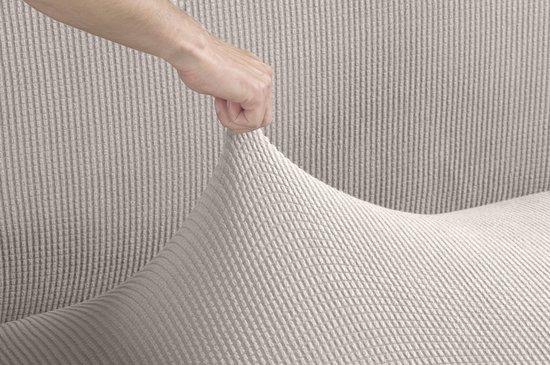 Tural - Beige stretch bankhoes (180-230 cm). 3 zitsbanken. Verkrijgbaar in diverse kleuren en maten - Tural