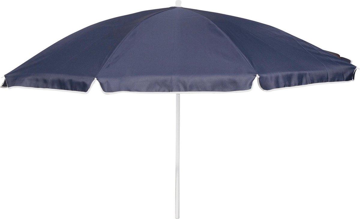 Bo-Camp Parasol Met Knikarm -   165 Cm - Blauw