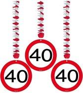 Rotorspiralen 40 jaar verkeersborden 3 stuks