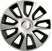 Wieldoppen Stratos DC zilver/zwart 14 inch 4-delig set