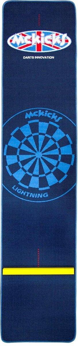McKicks Carpet Dartmat Blue + Oche 300 x 65 cm