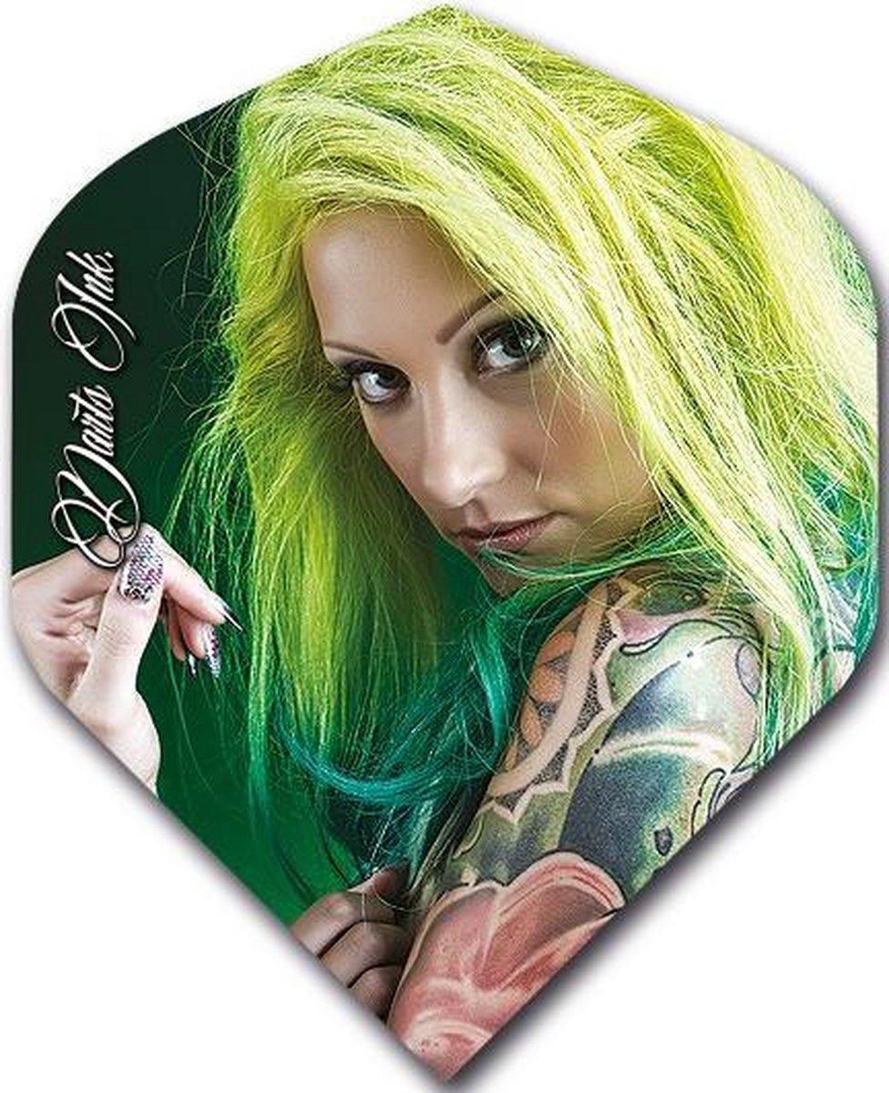 McKicks Ink Tattoo Std. Flight - Green Hair