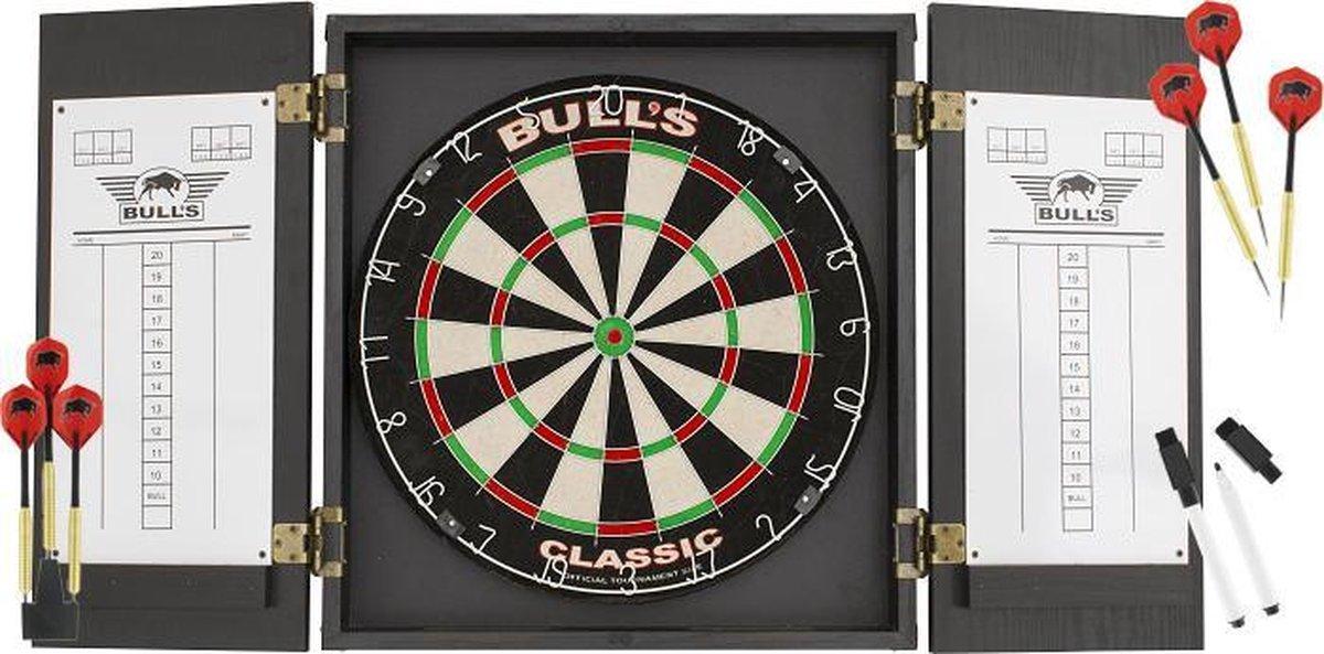 Bull's Classic Kabinet Dartbord Set