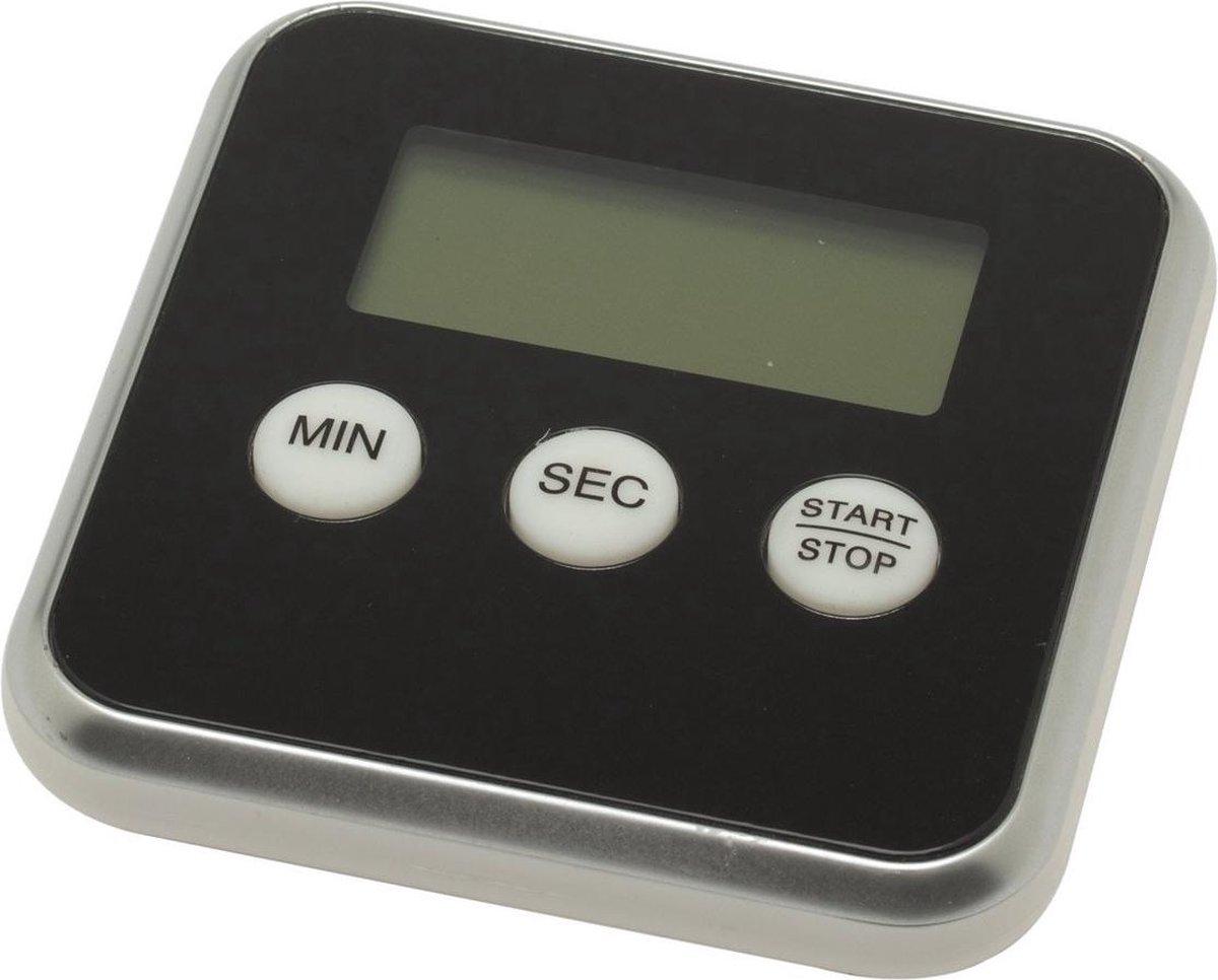 Barkleydeal Digitale Kookwekker - Magnetisch - Zwart - Inclusief Standaard en Batterij