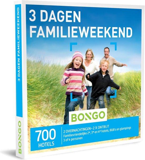 Bongo Bon Nederland - 3 Dagen Familieweekend Cadeaubon - Cadeaukaart cadeau voor man of vrouw   700 kindvriendelijke hotels