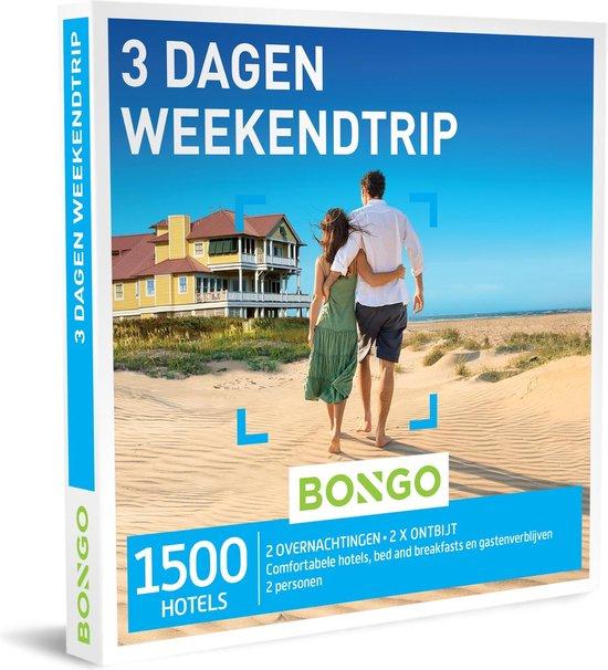 Bongo Bon Nederland - 3 Dagen Weekendtrip Cadeaubon - Cadeaukaart cadeau voor man of vrouw | 1500 hotels in de stad of op het platteland