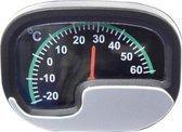 Thermometer zilver/zwart