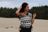 Rekbare baby draagdoek - Bam&Boe - tribal - Te gebruiken vanaf geboorte - Van super zacht Bamboe - ergonomisch rekbaar draagdoek