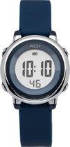 West Watch - digitaal kinder horloge – jongens - LED - model Star – donker blauw