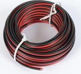 Luidsprekerkabel - PD Connex rol van 10 meter 0.75mm2 luidsprekerkabel - Rood / zwart
