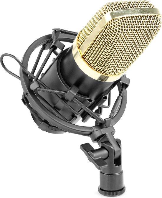 Studio microfoon - Vonyx CM400B studio microfoon incl. shockmount. Professionele condensator studio microfoon voor hoogwaardige opnames voor o.a. podcasts