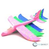 SET van 5 gekleurde FULL LED Zweefvliegtuig XXL | EXTRA GROOT 49CM | werpvliegtuig speelgoed foam |