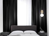 Kant en klaar Gordijn - Verduisterend - Met plooiband - 288x180 cm - Zwart - 1 Stuk