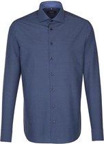 Seidensticker overhemd tailored fit blauw, maat 37