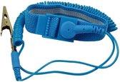 Antistatische Armband - ESD Bandje - ESD - Esd Polsband - Blauw - Antistatisch Polsbandje - Antistatische Bracelet - Band voor Statische Elektriciteit - Elektriciteit Ontlading - PC Bouwen - Statische Ontlading - Computer Ontlading - Blauw