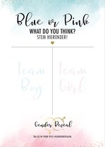 Gender Reveal - Blue or Pink stem poster