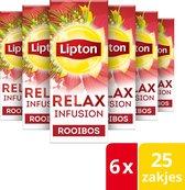 Lipton Feel Good Selection Rooibos Thee - 6 x 25 zakjes - Voordeelverpakking
