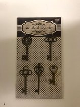 7 stuks - Metal keys - 5 stuks in verpakking