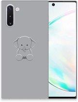 Samsung Galaxy Note 10 Telefoonhoesje met Naam Grijs Baby Olifant