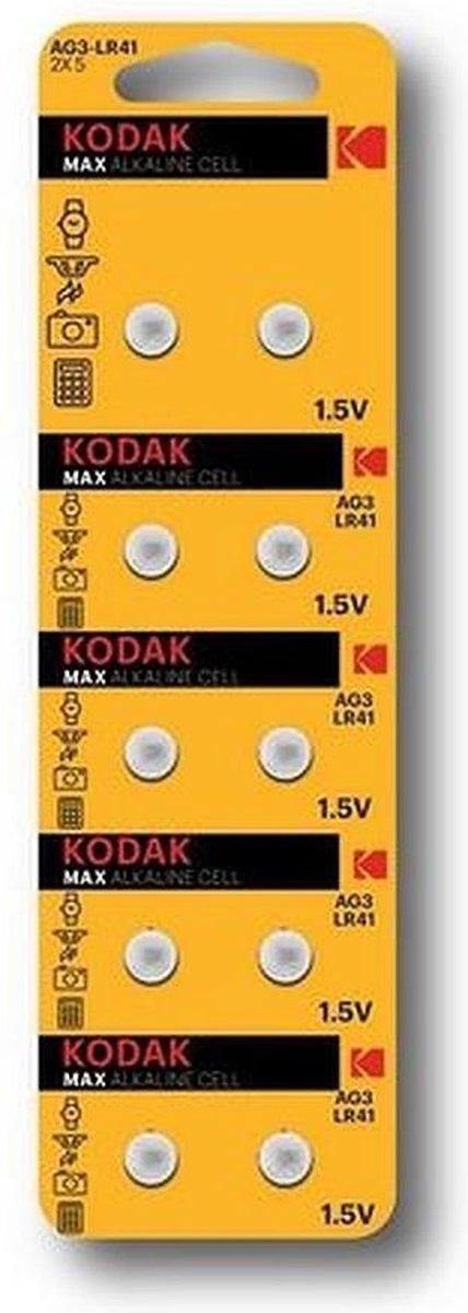 Kodak AG3 LR41 392 192 Alkaline 10 stuks