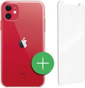 TORCE® iPhone 11 Hoesje Case Transparant + Gratis Glass Screenprotector