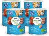 NaturNes® Bio Nutripops Tomaat 10+ mnd baby tussendoortje biologisch - 4 blikjes - baby snack