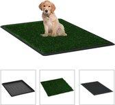 Honden Toilet Kunstgras met Bak (INCL Hondentouw) 64x51x3 cm - HuisdierenToilet - Zindelijkheidstraining - Vervanger training pads