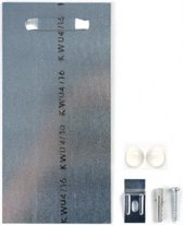 Ophangsysteem voor Aluminium wanddecoratie - Dibond ophangplaat van 10x20 cm