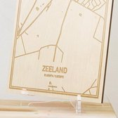 Kaart Zeeland -  Gegraveerde stadskaart Hood&Wood - Hout, A4