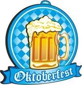 Oktoberfest - 5x Beierse muur/wand decoraties bierpul Oktoberfest 48 cm - Bierfeest feestartikelen - Decoratieborden versiering