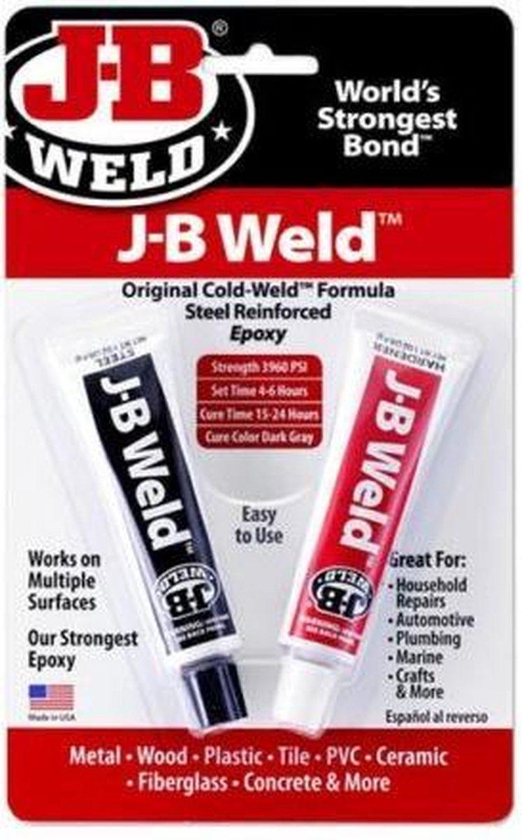 JB-Weld Original - Zeer sterk belastbaar Vloeibaar Staal, met staalvezel versterkt Epoxy Koud-lasmid