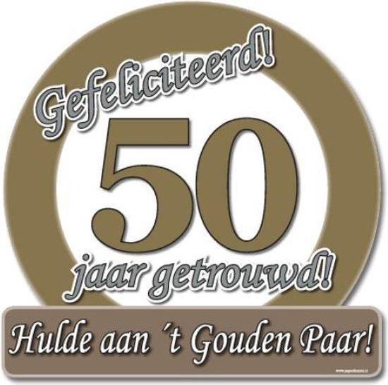 Wonderbaarlijk bol.com | Huldebord 50 jaar getrouwd FE-76