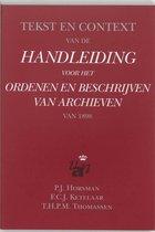 Tekst en context van de handleiding voor het ordenen en beschrijven van archieven van 1898