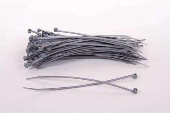 1000 stuks Grijze kabelbinders 2.5mm x 100mm (099.0433)