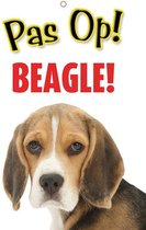 Waakbord pas op! Beagle