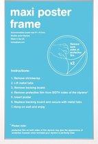 Wissellijst - Posterlijst - Houten - witte rand - formaat 50x70cm - Aanbieding