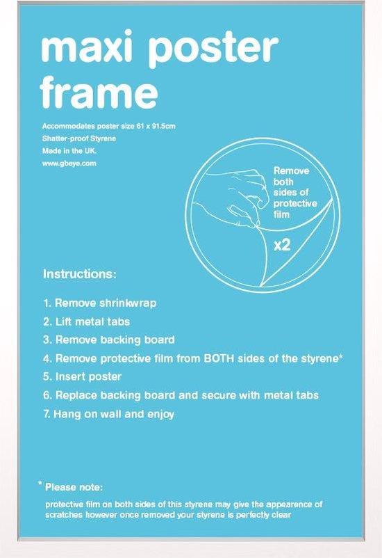 Fotolijst Wissellijst-Posterlijst- houten witte rand formaat 50x70cm. Aanbieding