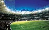 Fotobehang voetbal stadion - 254x184 cm (bxh) - 2 rollen behang