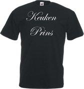 Mijncadeautje Unisex T-shirt zwart (maat M) Keukenprins