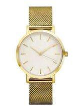 Hidzo Horloge Relogio ø 37 mm - Goud - Inclusief horlogedoosje