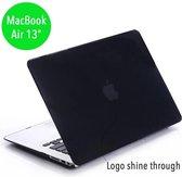 Lunso - hardcase hoes - MacBook Air 13 inch (2010-2017) - glanzend zwart