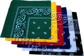Paisley Bandana's 6 stuks - Paisley Boeren Zakdoek Sport Accessoires Mondkapje - Bandana 6 kleuren