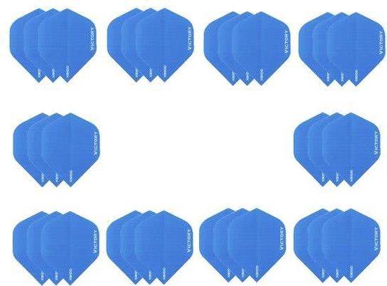 Afbeelding van het spel 10 sets (30 stuks) Super Sterke Lichtblauwe Poly XS100 - flights - dartflights