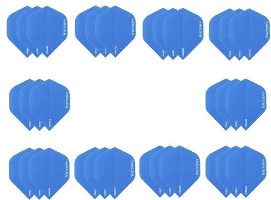 10 sets (30 stuks) Super Sterke Lichtblauwe Poly XS100 - flights - dartflights