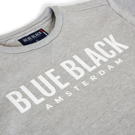 Blue Black Amsterdam Jongens Trui Milan 2.0 - Grijs Melange - Maat 152