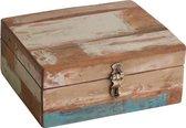 Raw Materials Scrapwood Theedoos – 6 vakken – Gerecycled hout