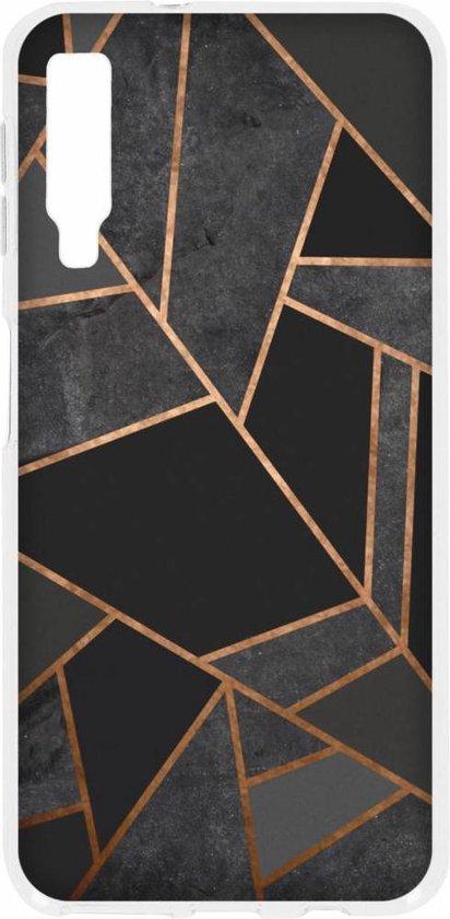 Zwart Grafisch design TPU hoesje voor de Samsung Galaxy A7 (2018)