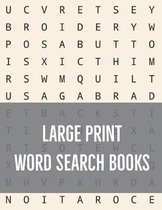 Large Print Word Search Books