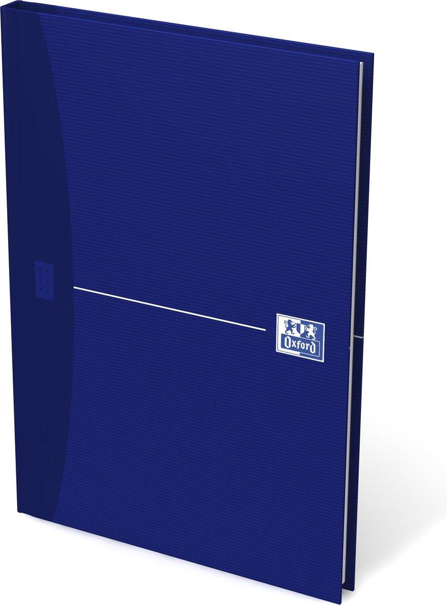 Oxford OFFICE Essentials gebonden boek 192 bladzijden gelijnd formaat A5 original blue