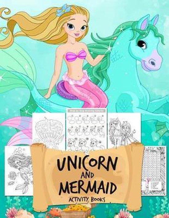 Unicorn and Mermaid Activity Books